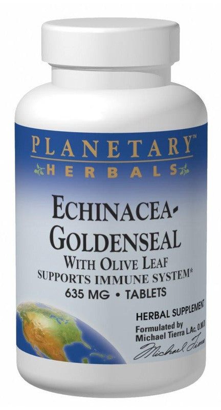 Buy PLANETARY HERBALS, Echinacea-Goldenseal with Olive Leaf, 60 tablet at Herbal Bless Supplement Store