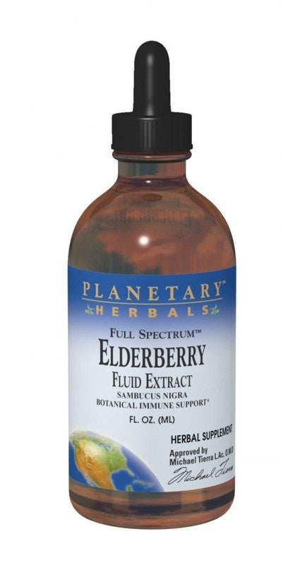 Buy PLANETARY HERBALS, Elderberry Fluid Extract, 8 oz at Herbal Bless Supplement Store