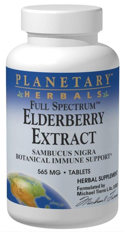 Buy PLANETARY HERBALS, Elderberry (Sambucus) Extract 565mg Full Spectrum™, 42 tablet at Herbal Bless Supplement Store
