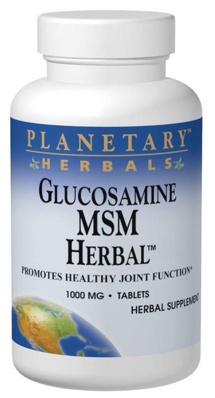 Buy PLANETARY HERBALS, Glucosamine MSM Herbal™ - Joint Care, 180 Tablets at Herbal Bless Supplement Store
