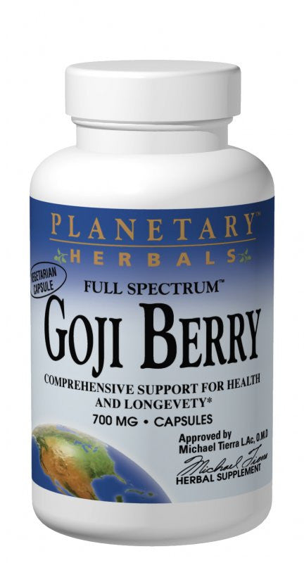 Buy PLANETARY HERBALS, Goji Berry Extract Full Spectrum™ 700mg, 90 Capsules at Herbal Bless Supplement Store