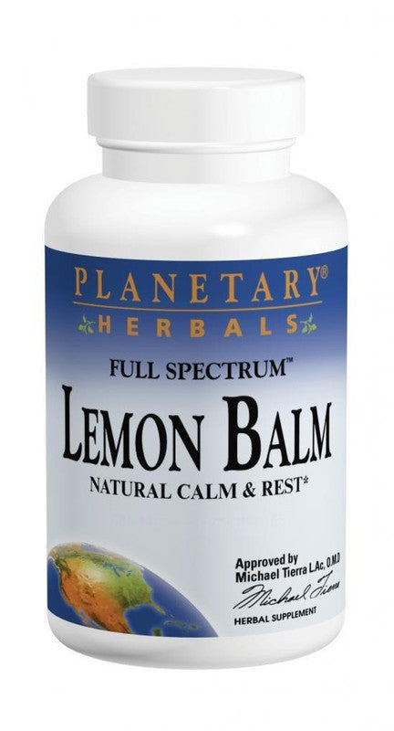 Buy PLANETARY HERBALS, Lemon Balm, 500mg, 120 Capsules at Herbal Bless Supplement Store