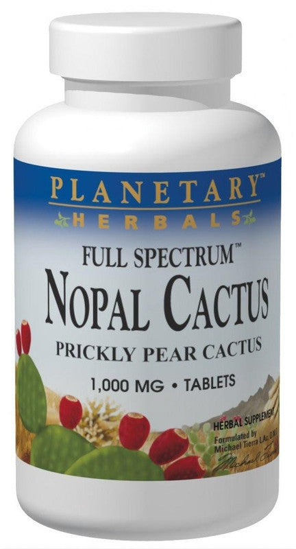 Buy PLANETARY HERBALS, Nopal Cactus Full Spectrum™ 1000mg, 120 tablet at Herbal Bless Supplement Store