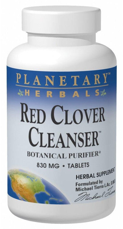 Buy PLANETARY HERBALS, Red Clover Cleanser™, 72 tablet at Herbal Bless Supplement Store