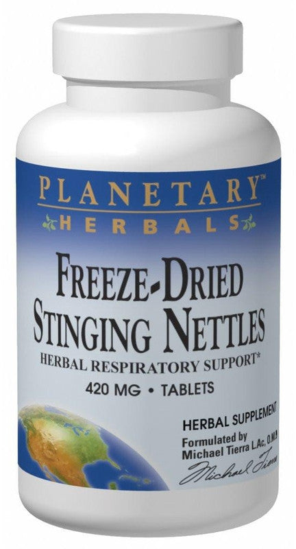 Buy PLANETARY HERBALS, Stinging Nettles, Freeze-Dried 420mg, 60 tablet at Herbal Bless Supplement Store