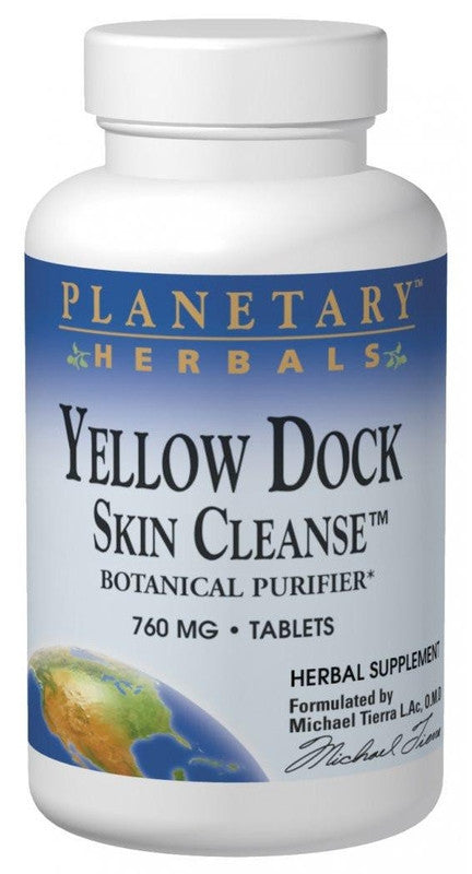 Buy PLANETARY HERBALS, Yellow Dock Skin Cleanse™, 120 tablet at Herbal Bless Supplement Store