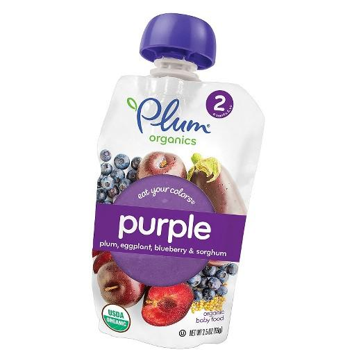 Buy Plum Organics, Purple: Plum, Eggplant & Blueberry with Sorghum - 3.5oz at Herbal Bless Supplement Store