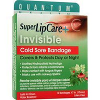 Buy Quantum, Super LipCare + - Invisible Cold Sore Bandage, 12 unit at Herbal Bless Supplement Store