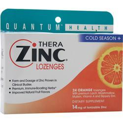 Buy Quantum, Thera Zinc Lozenges, Orange 24 lzngs at Herbal Bless Supplement Store
