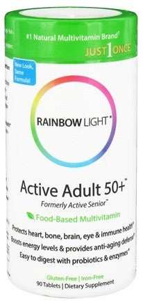 Buy Rainbow Light, Active Adult 50+ Multivitamin, 90 tablet at Herbal Bless Supplement Store