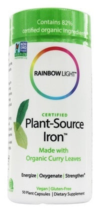 Buy Rainbow Light, Certified Organic Plant-Source Iron, 50 capsule at Herbal Bless Supplement Store