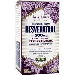 Buy Reserveage Organics, The World's Finest Resveratrol with Pterostilbene (500mg), 60 caps at Herbal Bless Supplement Store