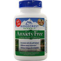 Buy Ridgecrest Herbals, Anxiety Free Stress Release Formula, 60 vcaps at Herbal Bless Supplement Store