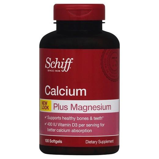 Buy Schiff, Calcium Plus Magnesium with Vitamin D3 400 IU, 100 Count at Herbal Bless Supplement Store