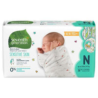 Buy Seventh Generation, Free & Clear Baby Diapers (Select Size) at Herbal Bless Supplement Store