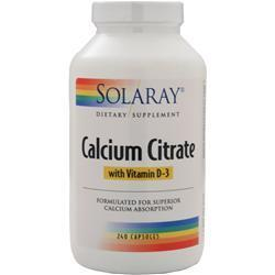 Buy Solaray, Calcium Citrate with Vitamin D-3, 240 vcaps at Herbal Bless Supplement Store