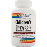 Buy Solaray, Children's Chewable Vitamins and Minerals, Natural Black Cherry 120 chews at Herbal Bless Supplement Store