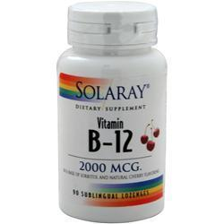 Buy Solaray, Vitamin B-12 (2000mcg), Cherry 90 lzngs at Herbal Bless Supplement Store