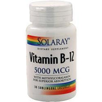 Buy Solaray, Vitamin B-12 (5000mcg), 30 lzngs at Herbal Bless Supplement Store