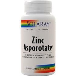 Buy Solaray, Zinc Asporotate, 100 vcaps at Herbal Bless Supplement Store