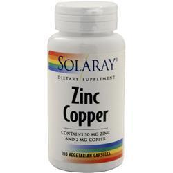Buy Solaray, Zinc Copper, 100 vcaps at Herbal Bless Supplement Store