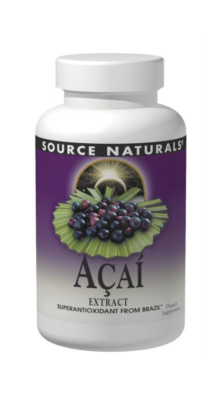 Buy Source Naturals, Acai­ Extract 500mg, 60 Vegetarian Capsules at Herbal Bless Supplement Store