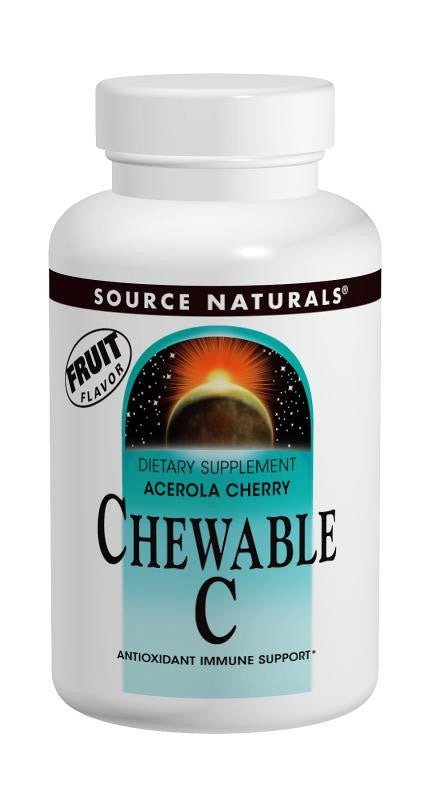 Buy Source Naturals, Acerola Cherry Chewable C 120mg, 100 tablet at Herbal Bless Supplement Store