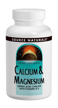 Buy Source Naturals, Calcium & Magnesium Chelate 300mg, 100 tablet at Herbal Bless Supplement Store