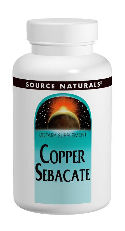 Buy Source Naturals, Copper Sebacate 22mg, 60 tablet at Herbal Bless Supplement Store