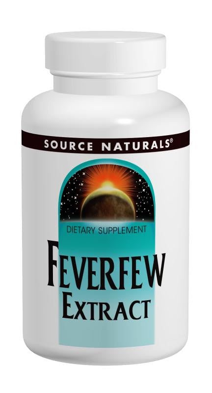 Buy Source Naturals, Feverfew 200mg Extract + 50mg Whole Herb, 50 tablet at Herbal Bless Supplement Store