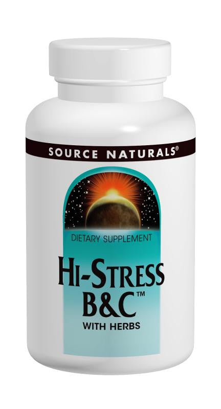 Buy Source Naturals, Hi-Stress B&C™ with Herbs, 60 tablet at Herbal Bless Supplement Store