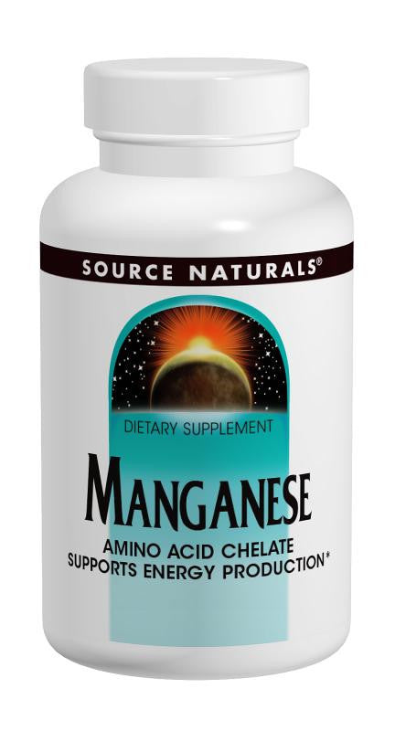 Buy Source Naturals, Manganese Chelate 10mg elemental, 100 tablet at Herbal Bless Supplement Store