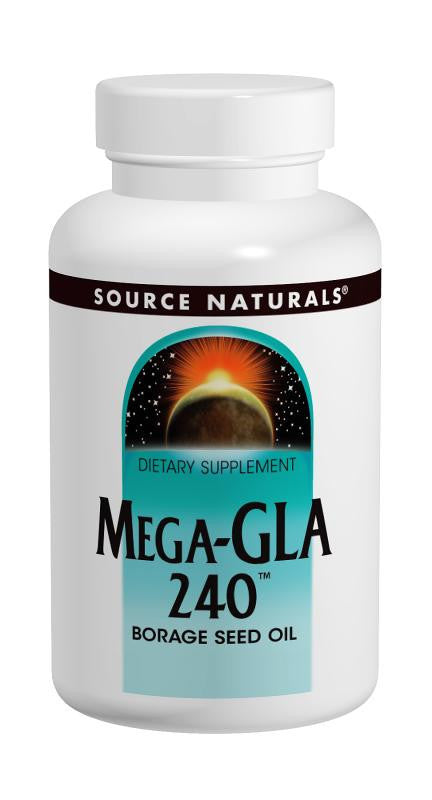 Buy Source Naturals, Mega-GLA 240™ Borage Seed Oil, 60 softgel at Herbal Bless Supplement Store
