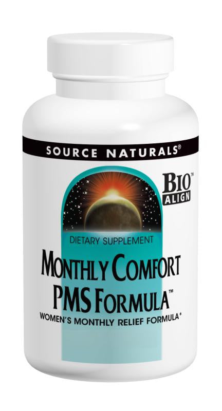Buy Source Naturals, Monthly Comfort PMS Formula™, 42 tablet at Herbal Bless Supplement Store