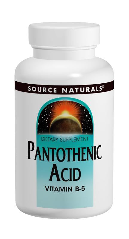 Buy Source Naturals, Pantothenic Acid Vitamin B-5 500mg, 100 tablet at Herbal Bless Supplement Store