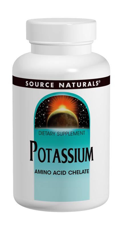 Buy Source Naturals, Potassium Chelate 99mg elemental, 100 tablet at Herbal Bless Supplement Store