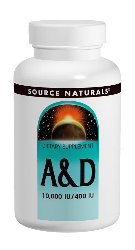 Buy Source Naturals, Vitamin A & D 10,000 IU/400 IU, 250 tablet at Herbal Bless Supplement Store