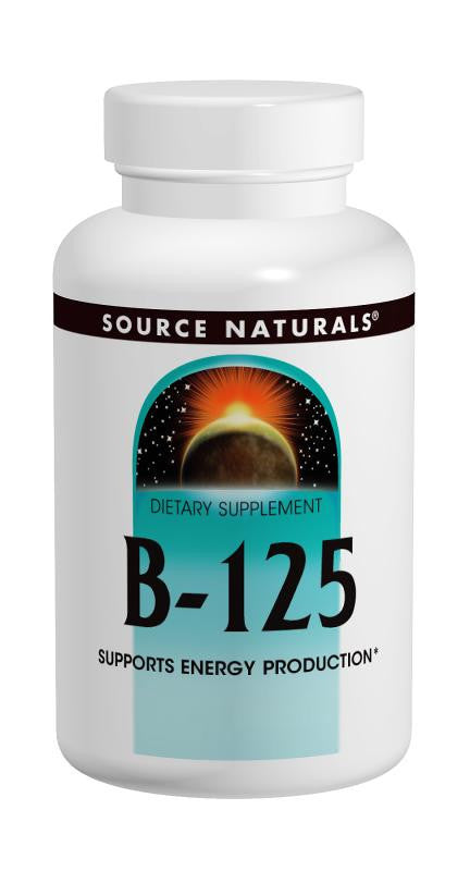Buy Source Naturals, Vitamin B-125 Complex, Yeast-Free 125mg, 30 tablet at Herbal Bless Supplement Store