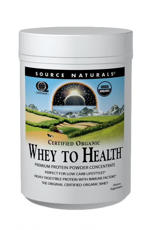 Buy Source Naturals, Whey to Health™ Protein Powder Concentrate, Certified Organic, 10 oz at Herbal Bless Supplement Store