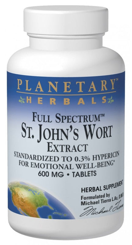 Buy St. John's Wort Extract 600mg - Std 0.3% Hypericin, 120 tablet at Herbal Bless Supplement Store