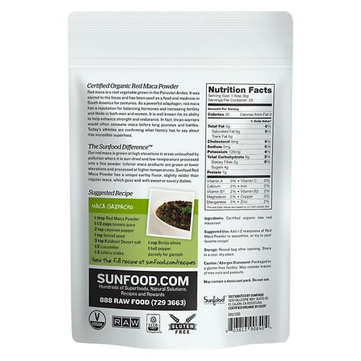 Buy Sunfood, Raw Organic Red Maca Powder - 8 oz at Herbal Bless Supplement Store