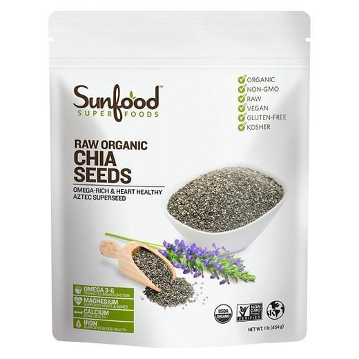 Buy Sunfood, Superfoods Raw Organic Chia Seeds - 16 oz at Herbal Bless Supplement Store