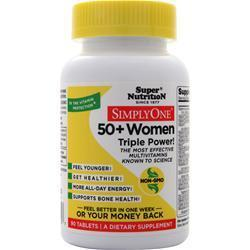 Buy Super Nutrition, Simply One 50+ Women - High Energy One-Per-Day at Herbal Bless Supplement Store