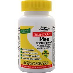 Buy Super Nutrition, Simply One Men - One-Per-Day, 90 tabs at Herbal Bless Supplement Store