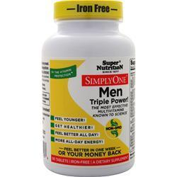 Buy Super Nutrition, Simply One Men - One-Per-Day (Iron Free) at Herbal Bless Supplement Store