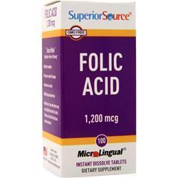 Buy Superior Source, Folic Acid (1,200 mcg), 100 tabs at Herbal Bless Supplement Store