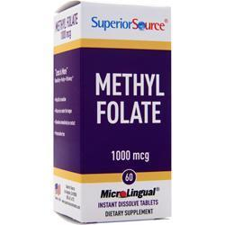 Buy Superior Source, Methyl Folate (1000mcg), 60 tabs at Herbal Bless Supplement Store