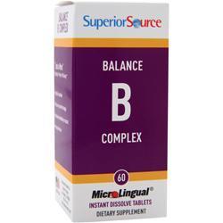 Buy Superior Source, MicroLingual Balance B Complex, 60 tabs at Herbal Bless Supplement Store
