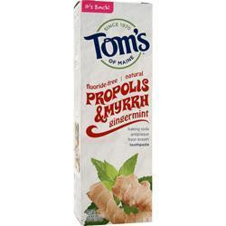 Buy Tom's Of Maine, Fluoride-Free Propolis & Myrrh Toothpaste at Herbal Bless Supplement Store