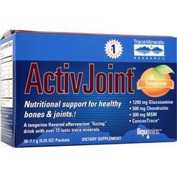 Buy Trace Minerals Research, ActivJoint (packets), Tangerine 30 pckts at Herbal Bless Supplement Store